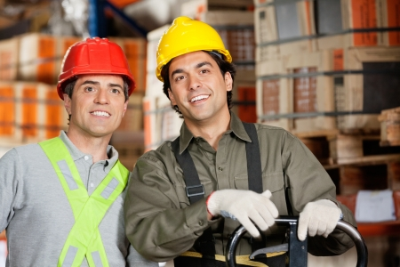 Happy Foreman At Warehouse Stock Photo - 16672712