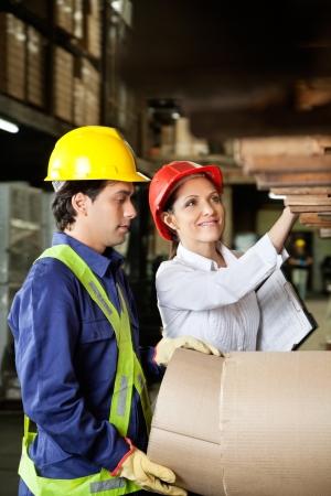 Supervisor And Foreman Checking Stock photo