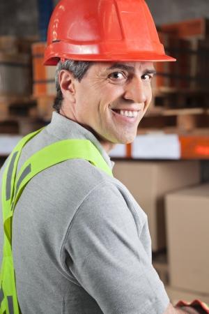 Happy Foreman At Warehouse photo