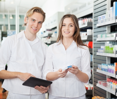 Pharmacist with Digital Tablet Stock Photo - 16715236