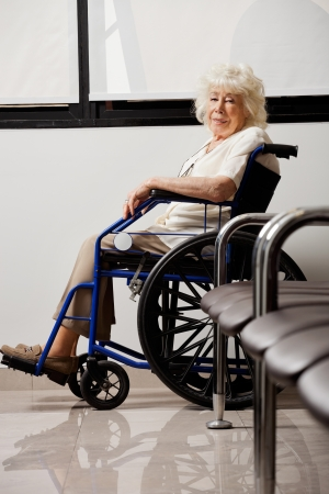 Elderly Woman On Wheelchair Stock Photo - 17100193