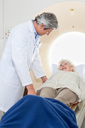 Senior Female Having MRI Scan Stock Photo - 17125092