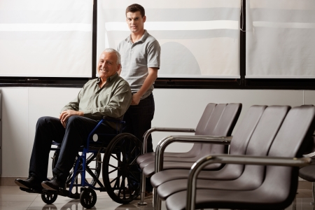 Man With Disabled Grandfather Stock Photo - 17132833