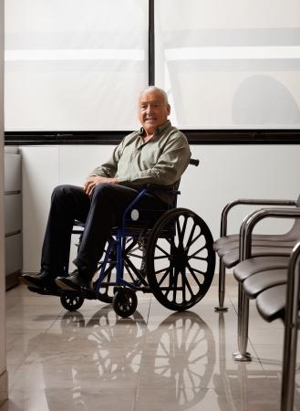 Senior Man On Wheelchair