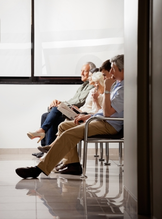 People Sitting In Waiting Area photo