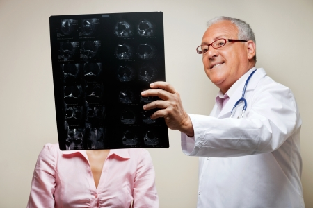 Radiologist Holding X-ray photo