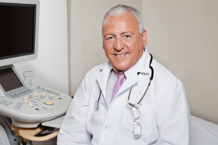 Male Radiologist Smiling Stock Photo - 17213638
