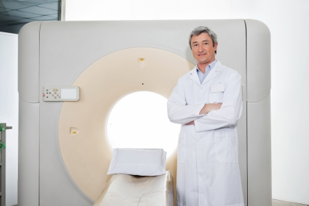 Doctor Standing Hands Folded Stock Photo - 17213639