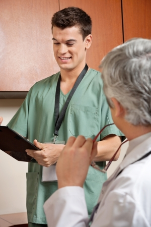 Male Technician Holding Clipboard Stock Photo - 17238690