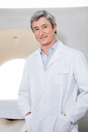 Radiologist Standing With Hands In Pockets Stock Photo - 17238469