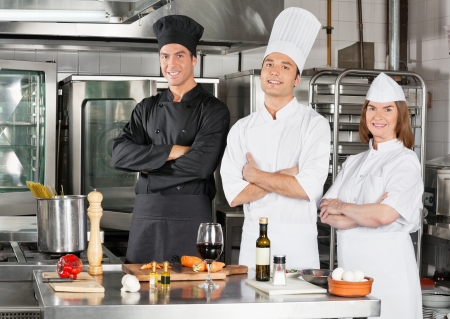 commercial kitchen: Chefs Standing With Arms Crossed
