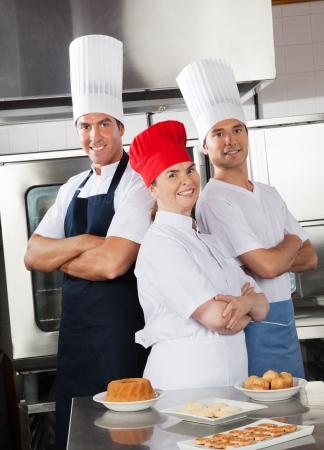 Team Of Confident Chefs Stock Photo - 18005885