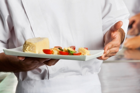 Chef Presenting Dish Stock Photo - 18136816