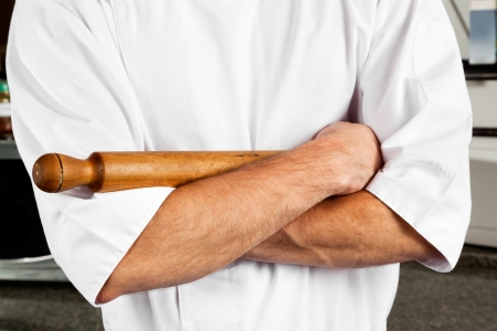 Male Chef With Rolling Pin photo