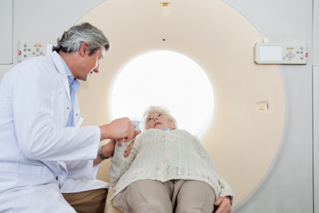 Radiologist Comforting Patient Before CT Scan Stock Photo - 18261109