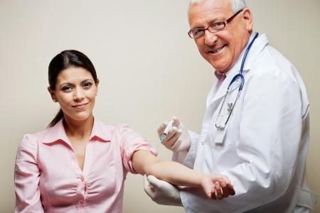 Female Patient Having Blood Test Stock Photo - 18261259