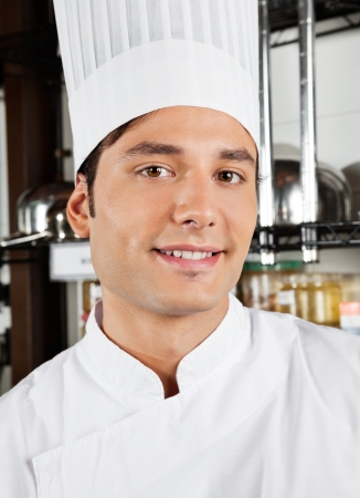 Happy Male Chef In Kitchen Stock Photo - 18261124