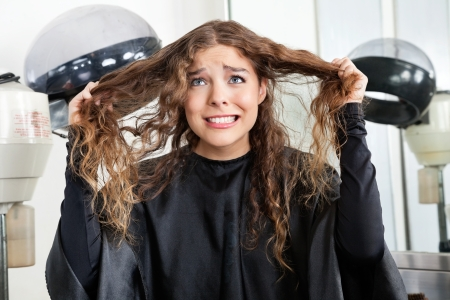 Frustrated Woman Pulling Her Hair Stock Photo - 18257582