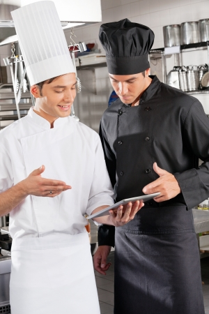 chefs show: Chefs With Digital Tablet