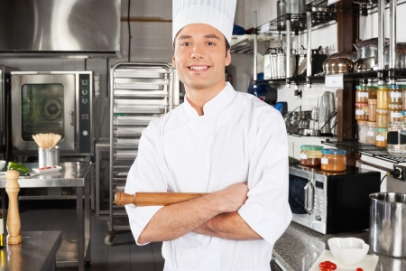 Happy Male Chef In Kitchen photo