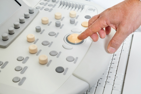 Hand Operating Ultrasound Machine photo