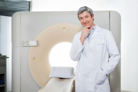 Doctor Standing By Ct Scan Machine Stock Photo - 18521625