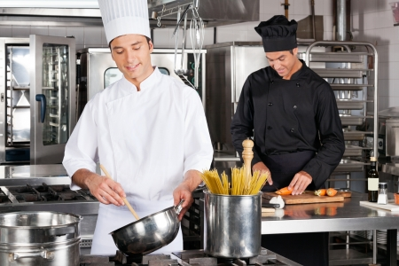 Happy Chefs Preparing Food photo