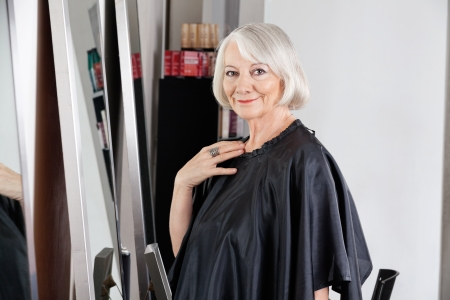 Beautiful Senior Woman At Hair Salon Stock Photo - 18793651