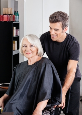 Client With Hairstylist Standing Behind Stock Photo - 18793403