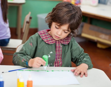 Little Boy Drawing In Art Class Stock Photo - 19938048