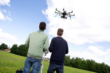 rotor: 2 man playing Multi rotor photography UAV