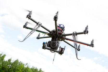 drone: Multirotor Photography Helicopter Stock Photo