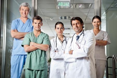 medical laboratory: Confident Medical Professionals Stock Photo
