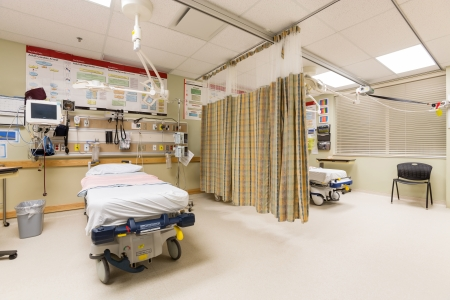 Emergency intake area in a hospital