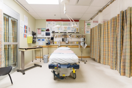 hospital room: Emergency intake room in hospital