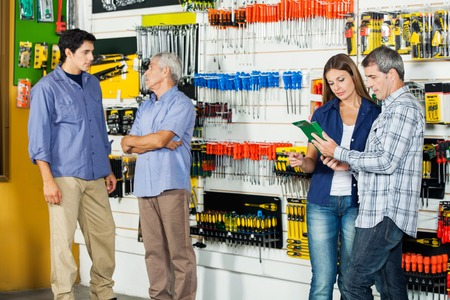 hardware: Customers In Hardware Store