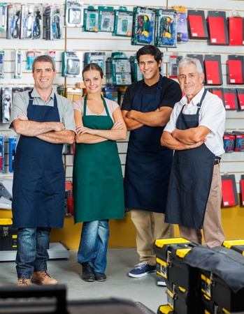salespeople: Salespeople Smiling In Hardware Store