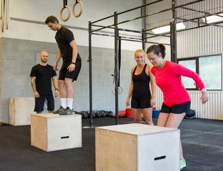 interval: Athletes Box Jumping