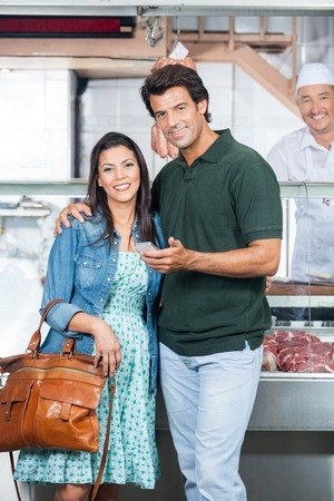 Loving Couple In Butchery photo
