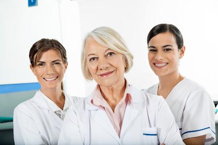 research facilities: Confident Female Technicians Stock Photo