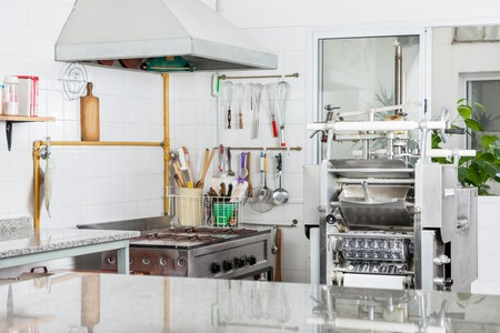 industrial kitchen: Pasta Machine In Commercial Kitchen