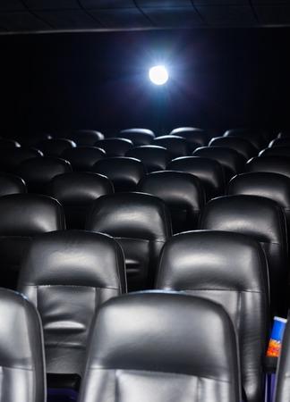 lightbeam: Interior Of Empty Cinema Theater