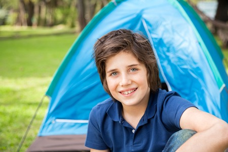 staycation: Boy Camping In Park