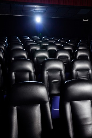 lightbeam: Interior Of Empty Movie Theater
