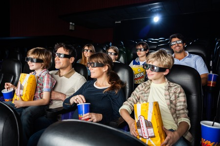 3d: Families Watching 3D Movie In Theater
