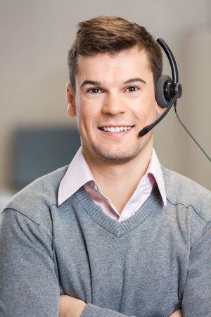 Customer Service Representative In Corporate Office Foto de archivo