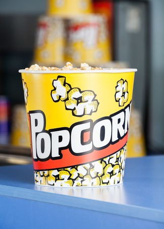 concession: Popcorn On Cinema Concession Counter
