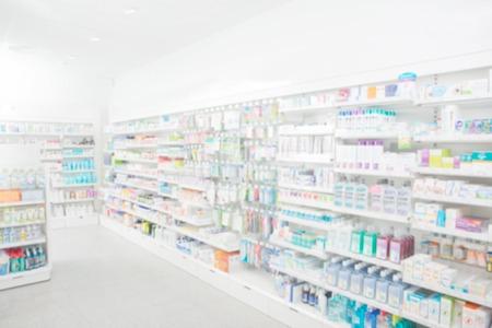 droga: Farmacia interior con fondo borroso Foto de archivo
