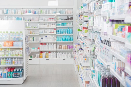 shop interior: Pharmacy interior with shalldow depth of field