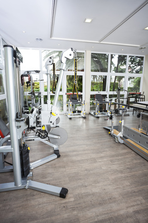 wellness center: Fitness machines in studio of rehab center